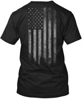 Usa Flag Hanes Tagless Tee T-Shirt