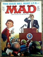 MAD Magazine #66 Oct 1961! FINE! 6.0! $0.99 Start! SOLID! TIGHT! KENNEDY Cover!!