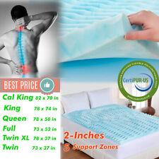 Orthopedic NON Memory Foam Bed Pad 2 Inch Mattress Topper Comfort Hypoallergenic