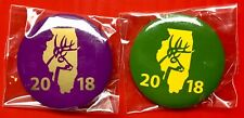 2018 Illinois Deer Harvest Pins - 1 SHOT GUN and 1 ARCHERY