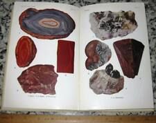 Chamber'S Mineralogical Dictionary 1948 40 Color Plates Minerals Crystals Gems