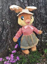 "Vtg 50's Gund Swedlin Mama Easter Bunny Rabbit Stuffed Toy Rubber Face 19"""