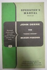 Vtg John Deere Operator's Manual 110 Chuck Wagon Mixer-Feeder No. OM-C43-759