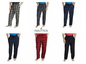 NEW Men's Nautica 2 Pack Sleepwear Fleece Pants Comfort Waistband Soft Comfort