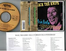 ELLA FITZGERALD Mack The Knife-In Berlin JAPAN 24k GOLD CD POCJ-9014 OBI+INSERT