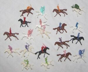 Giant style mounted 1/72 cowboys & Indians with horses toy soldiers