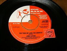 JOHN LEYTON - YOU TOOK MY LOVE FOR GRANTED - WILD WIND  / LISTEN - TEEN