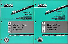 1996 Grand Am Achieva Skylark Shop Manual Set 96 Buick Pontiac Oldsmobile Olds