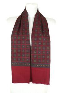 Elegant Schal Tuch Herren weinrot Wolle mit Seide