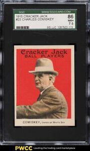1915 Cracker Jack Charles Comiskey #23 SGC 7.5 NRMT+