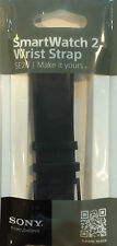 SONY SE20 BLACK LEATHER WRIST STRAP BAND FOR SMARTWATCH 2 IN BLACK