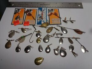 Lot of Vintage Pan Fishing Spinners Trout Perch Crappie Lures