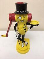 """VINTAGE MR PEANUT BUTTER MAKER MACHINE 12"""" NABISCO 1996 WORKS Hand Grinder Food"""