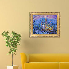 DIY 5D Diamond Castle Ancient Embroidery Painting Cross Stitch Home Decor Craft