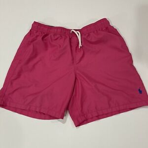 Polo Ralph Lauren Boys Summer Swim Trunks Board Shorts Pink Kids - XL 18-20