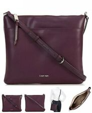 Calvin Klein Lily Crossbody Handbag  Purple Smooth Leather  $148.00 NWT