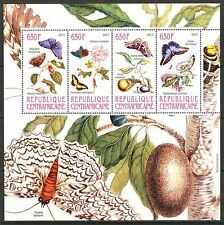 Central African Republic 2011 Insects Butterflies IV Sheet of 4 MNH** Privat !