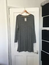 BNWT Tu Size 22 Grey Long Sleeve Long Tunic With Side Splits.  (r5)
