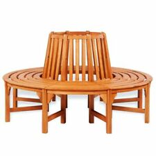 New listing vidaXl Solid Wooden Tree Bench Surround Garden Furniture Outdoor Circular Seat