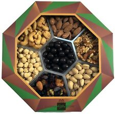 Gourmet Gift Box - Octagon Shaped Premium Gift Tray with 7 High Quality Nuts