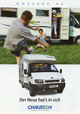 Prospectus Chausson Odyssée 1/02 voyage mobile 2002 camping-car brochure camping car