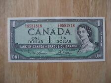 Canadian 1954 $1 bank note Crisp Uncirculated