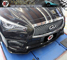 Front Lip (3pcs)ABS Material  Unpainted Fit for 2014 2015 2016 Infiniti Q50 3.5