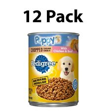 12 Pedigree Puppy Chopped Wet Ground Dinner With Chicken Beef Adult Canned Dog