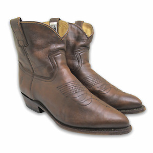 Frye Billy Short Western Ankle Cowboy Boots Brown Cowgirl Women's 9 B 77816