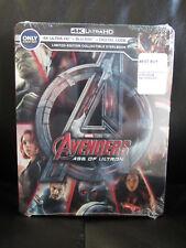 Avengers Age of Ultron 4K UHD + Blu-Ray + Digital HD Steelbook Marvel Sealed