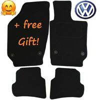 Quality Tailored Black Car Floor Mats Carpets Clip for VW Polo Mk 5 2016