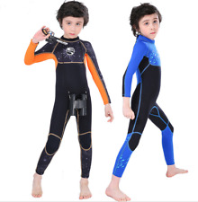 Kids Boy 2.5mm Neoprene Full body Diving Suits Children Surfing Scuba Wetsuits