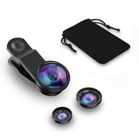 3 In 1 Mobile Phone Fish Eye+Wide Angle+Macro Camera Lens For iPhone ZTE Samsung