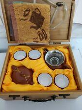 Chines Gongfu Tea Travel Teaset  In Bamboo Box Gaiwan Teacups