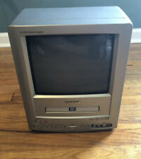 "Toshiba 9"" TV/DVD Combo MD9DM1R AC/DC RCA Inputs Retro Gaming RV Camp Portable"