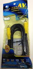 Choseal 1.8 M AV Ofc De Audio/Video Cable de DVD de alta calidad Negro Con Conector Oro