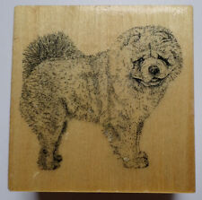 Stamp Gallery Chow Chow Puppy Dog Woodern Rubber Stamp
