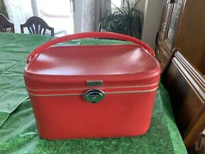 "Vintage 1940's Amelia Earhart ""DELUXE"" Train Case/Make-Up Suitcase-Luggage"