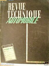 Revue Technique Automobile Citroen Avril 1959 Nr. 156