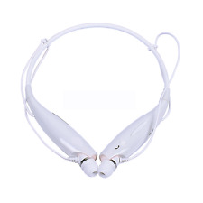 Bluetooth Wireless Earphone Headset Cell Phone For LG Samsung iPhone HTC White