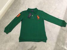 Ralph Lauren Chicos Polo Verde camisa de mangas largas Tamaño 7 años ** L @ @ K ** BNWT