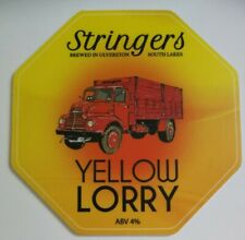 STRINGERS brewery YELLOW LORRY real ale beer pump clip badge front Cumbria