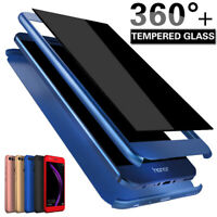 360° Full Cover Case + Tempered Glass For Huawei Honor 7X 8 8X 9 10 Lite 20 Pro