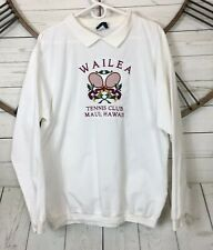Vintage Wailea Tennis Club Maui Hawaii Collar Shirt Oarsman 913 Size M Hawaii