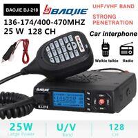 VHF/ UHF Dual Band Mini Mobile Car Transceiver FM Radio Walkie Talkie +Mounting
