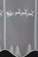 m/€ 20,00 Scheibengardine Gardine Bistrogardine 11515 48cm hoch Rentier silber