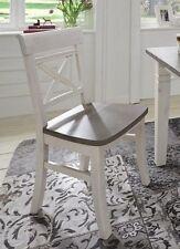 Stuhl 2farbig weiß grau Kiefer Holzstuhl Küchenstuhl Vollholz massiv