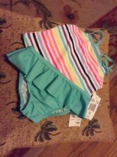 24M Carters Girls toddler bathing suit 2 Piece Set Swimwear UPF 50+  MWT