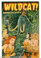 Vince Ray Rock Art Poster Print Mammoth Ivory Tusks Tiki Amazon Pinup Girls