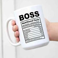 Boss Nutritional Facts Funny Coffee Mug Inspirational And Motivational Mug[15oz]